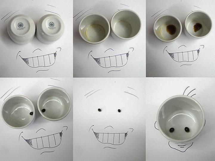 الابداع بلا حدود-لوحات فنية نصها مرسوم ونصها حقيقي Design-fetish-Victor-Nunes-objects-illustrations-into-faces-2