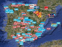 Mapa de corrupció de polítics