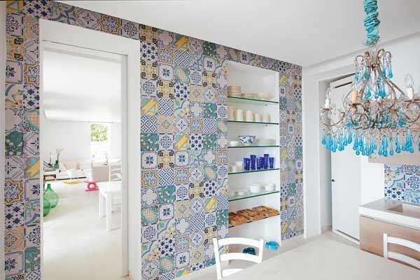 Azulejos Baño Vintage:Podemos incluso reutilizar aquellos azulejos antiguos fabricados en