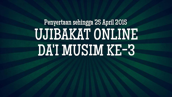 Ujibakat Online Da'i Pendakwah Milenia TV3