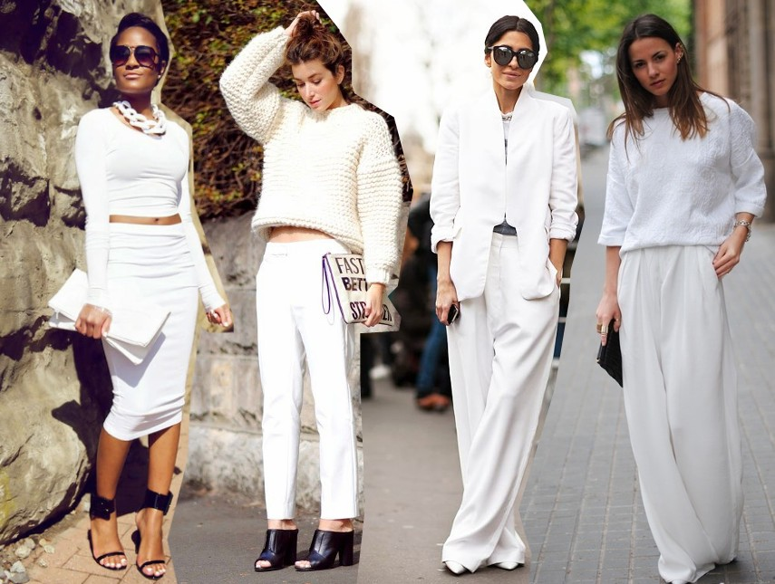 bloggers wearing white on white two piece trend fashion style