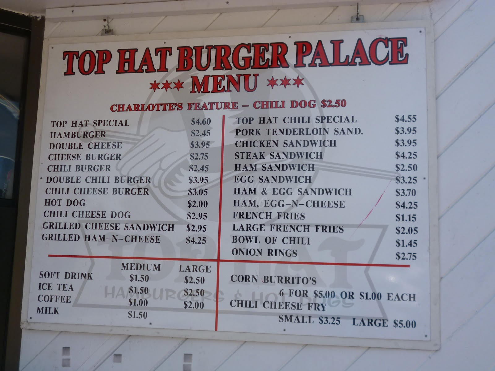 Top Hat Burger Place Ventura on Los Angeles Beach Houses