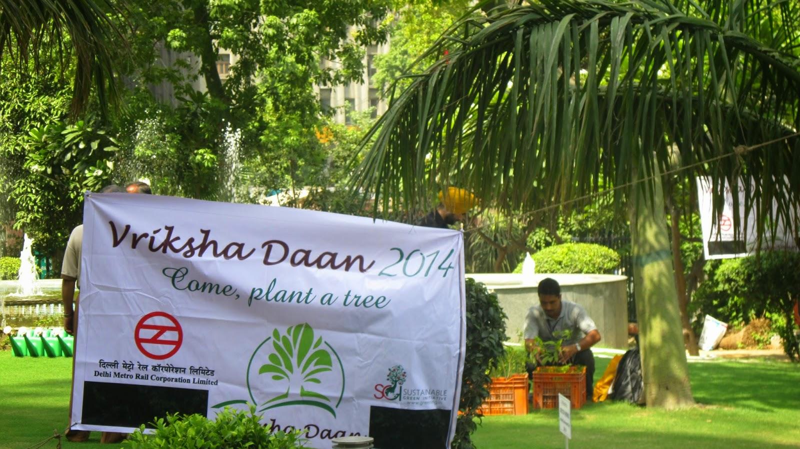 Tree planting New Delhi Metro Bhavan