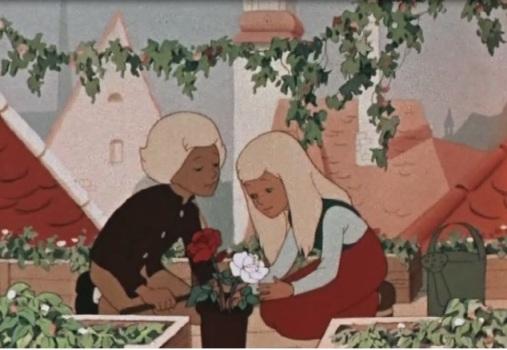 Фото кай и герда с цветами