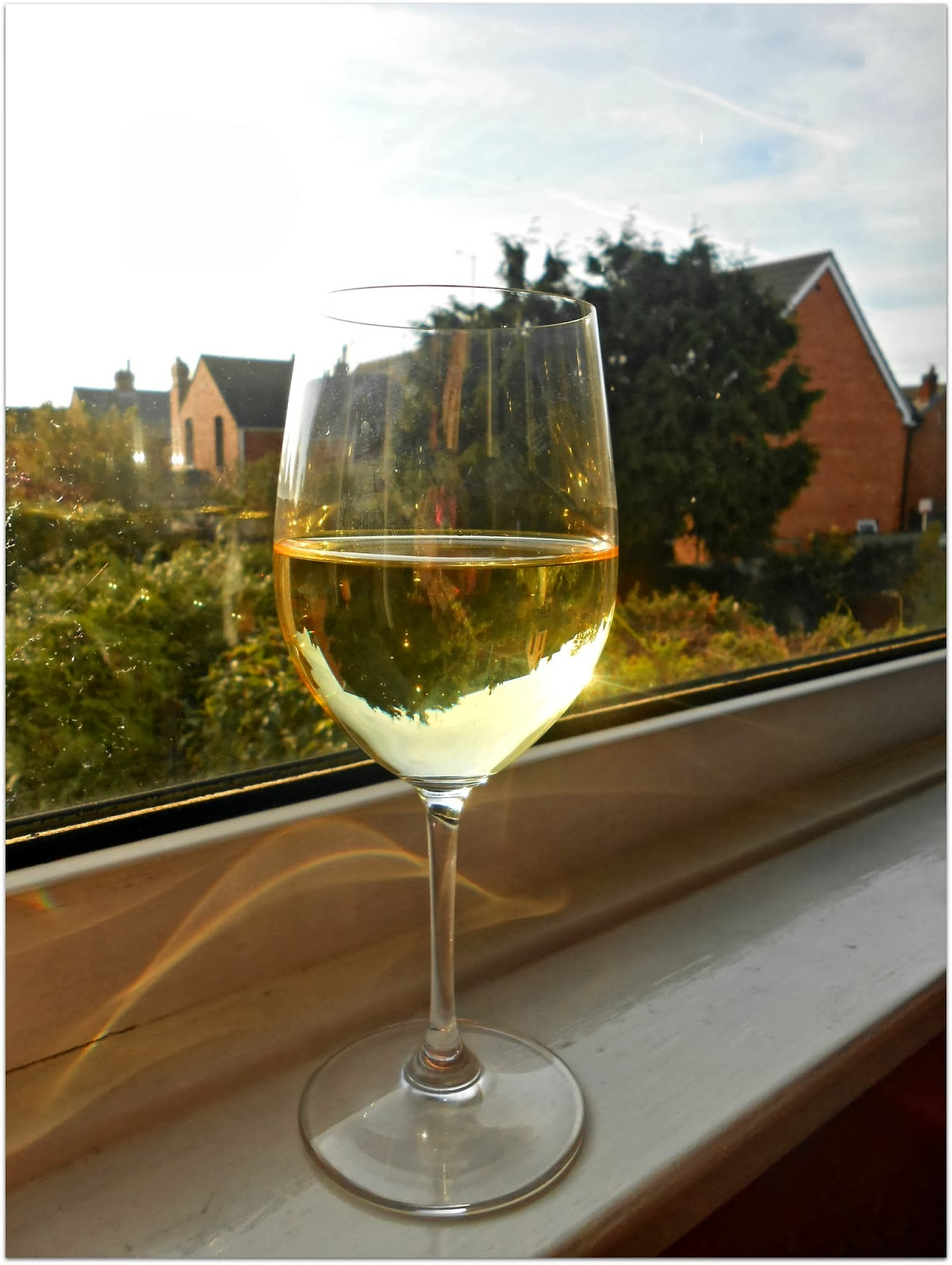 Glass Of Organic White Wine