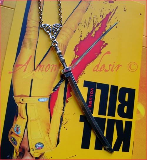 Collier Katana Sabre Médiéval Japonais Japon Japan Medieval Sword Kill Bill