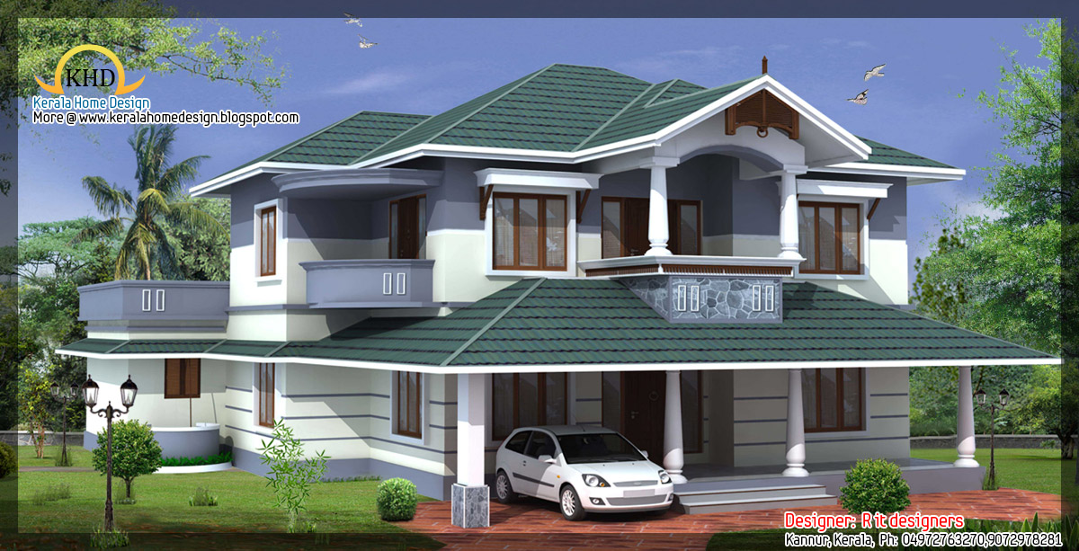 awesome house designs - 2850 Sq. Ft (265 Square Meter)