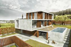 Render de una casa en Galicia