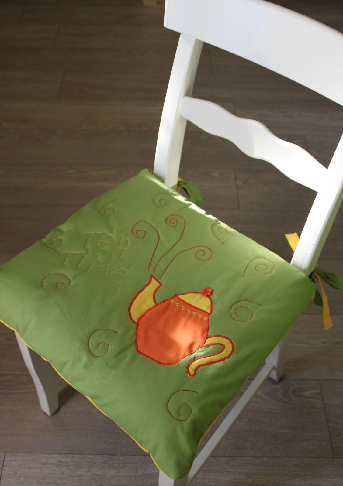 Подушка на кухонный стул своими руками 71