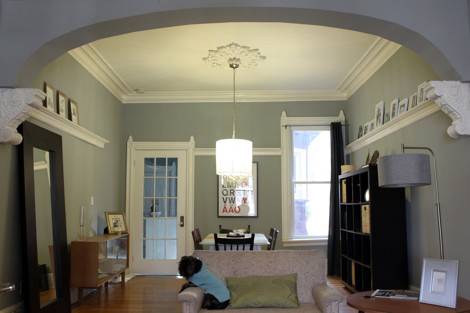 promised, here are some after photos of our Living and Dining Rooms title=