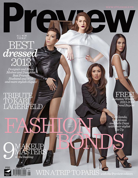 Bea Alonzo, Vice Ganda, Liz Uy and Belle Daza Cover Preview Magazine July 2013 issue