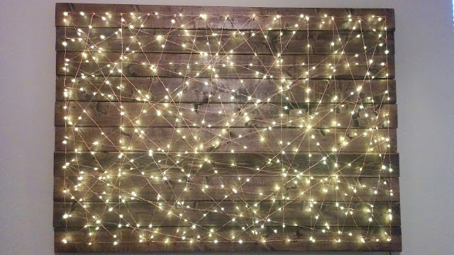 Dizzida: DIY Home Decor: String Lights String Art