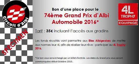 Billet Grand Prix Automobile d'Albi