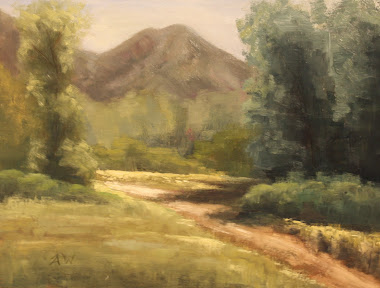 """pathway"" Plein Air, Wheeler Farm, July 23 2011"