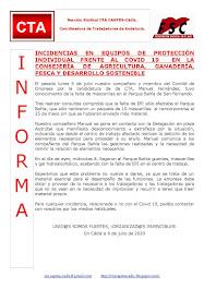 INCIDENCIAS EN EQUIPOS DE PROTECCIÓN INDIVIDUAL FRENTE AL COVID 19 EN LA CONSEJERÍA DE AGRICULTURA,