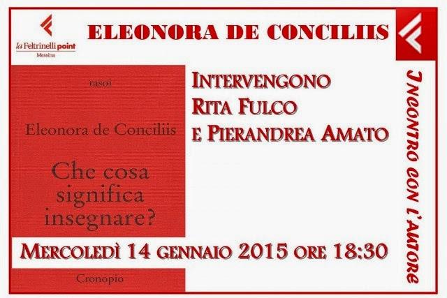 """""""CHE COSA SIGNIFICA INSEGNARE?"""" DI ELEONORA DE CONCILIIS"""