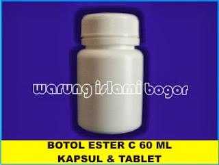 Botol Plastik Ester-C 60ml