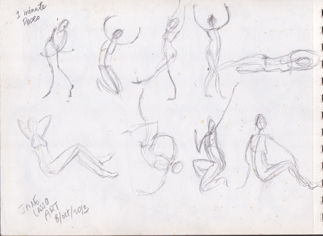 Dibujos a lápiz de poses