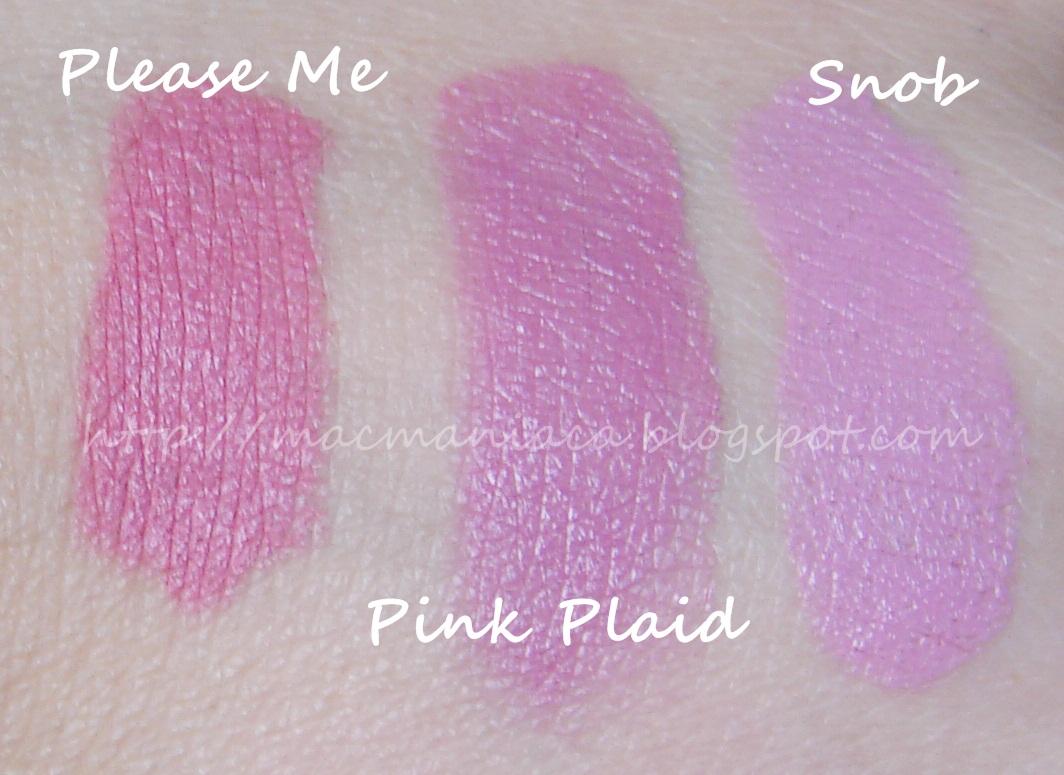 mac pink plaid vs please me - photo #13