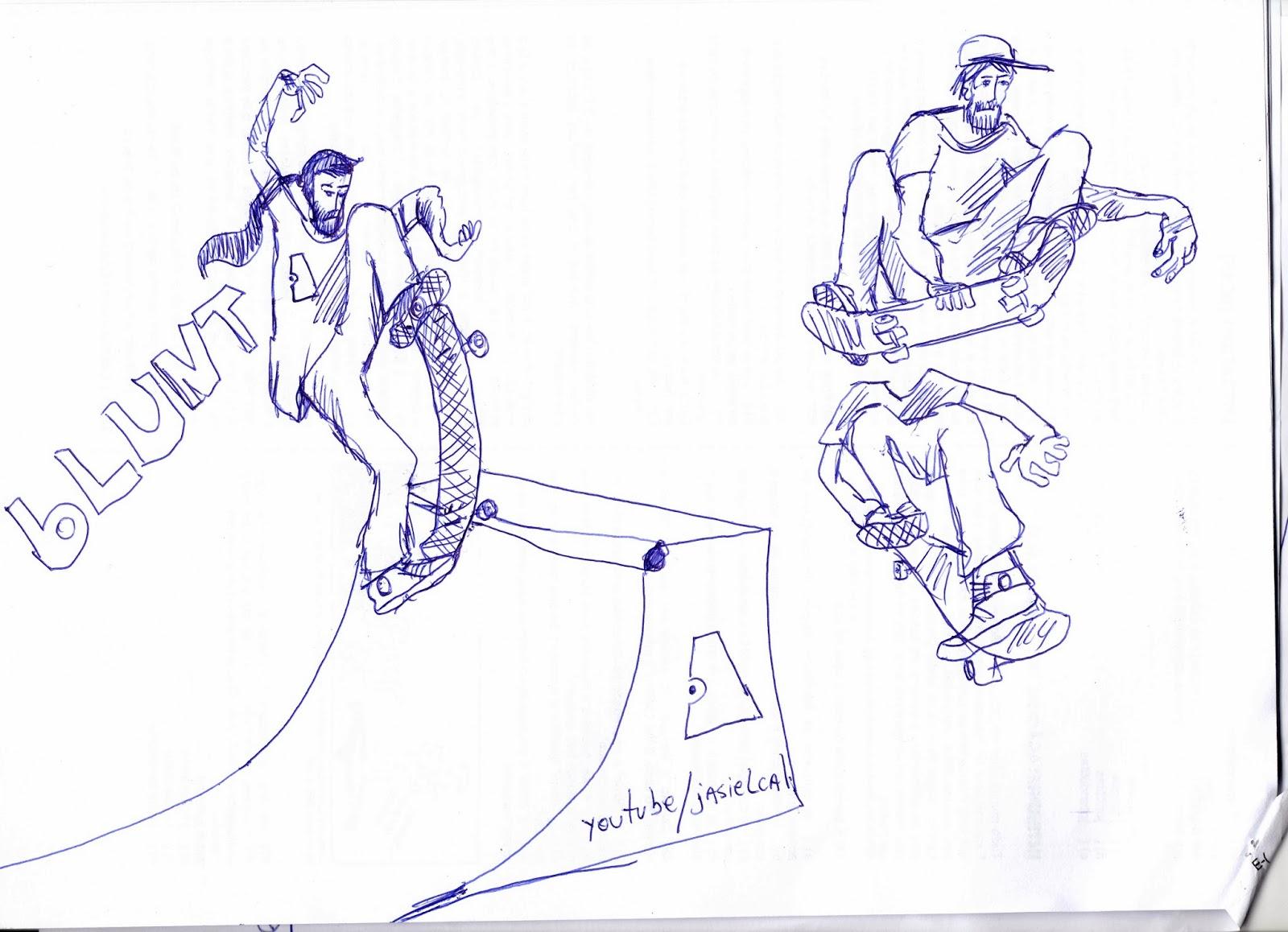 skateboarding até o osso aprenda a desenhar skatistas fazendo manobras