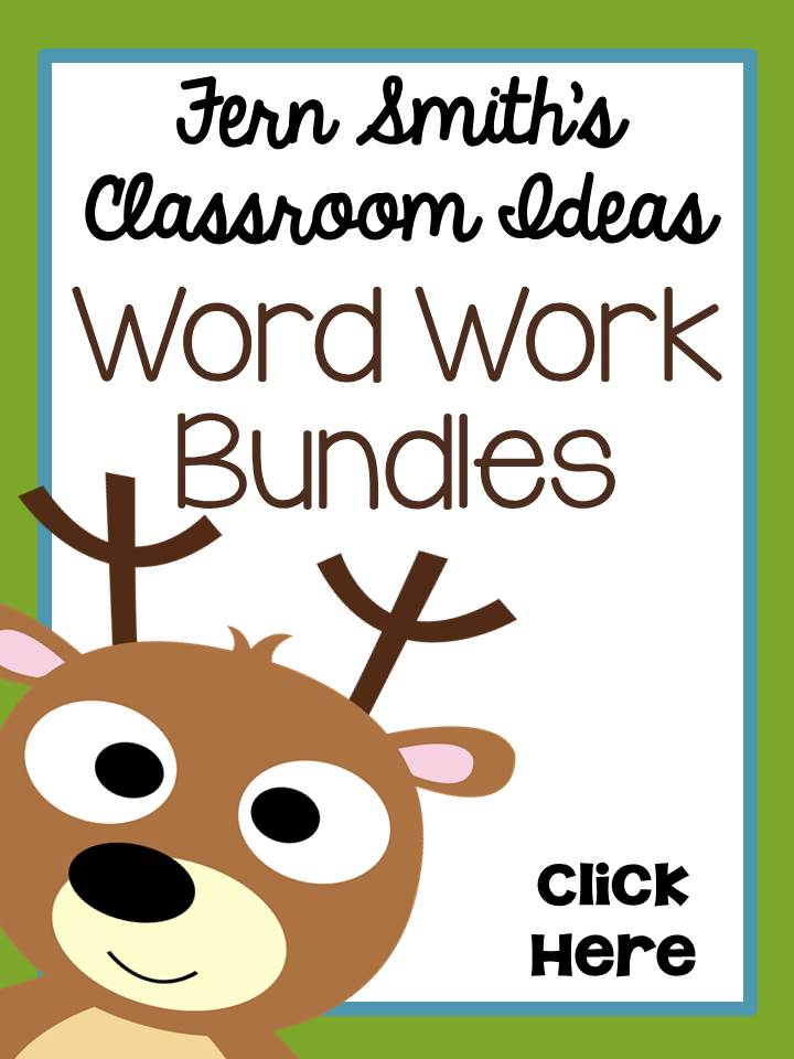 Fern Smith's Classroom Ideas Word Work Bundles Web Site