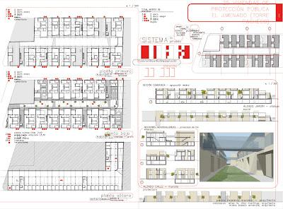 Panel 02 Concurso 25 viviendas de protección pública en El Jimenado