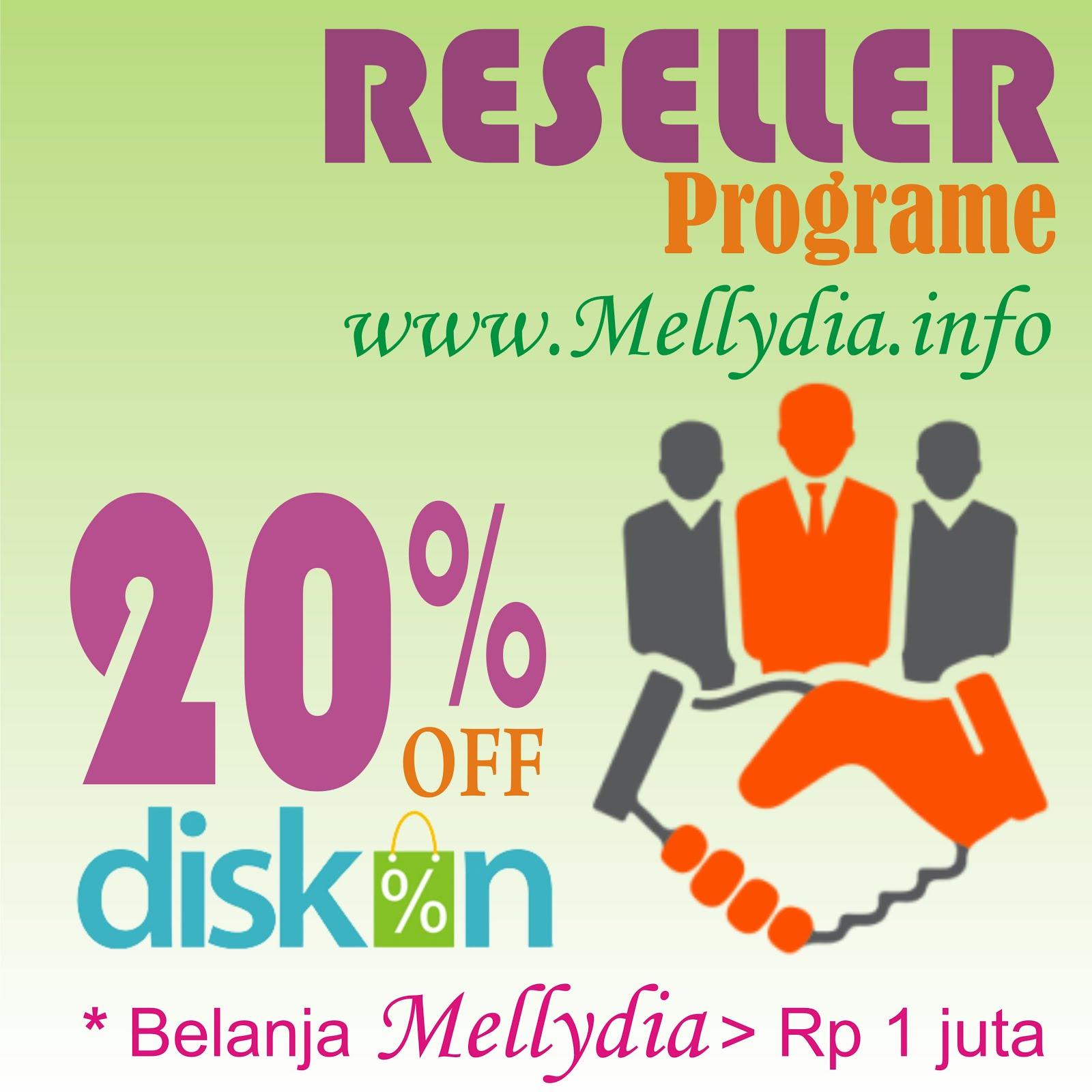 Promo Reseller Mellydia Diskon 20%