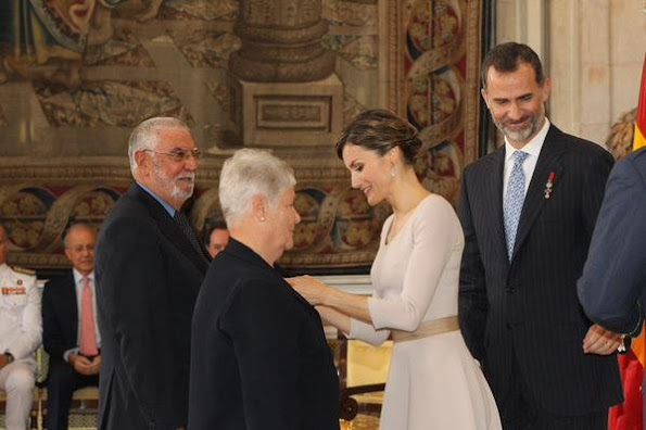 Spanish Royals deliver 'Order of the Civil Merit' awards. King Felipe VI of Spain and Queen Letizia of Spain attend the 'Order of the Civil Merit' ceremony