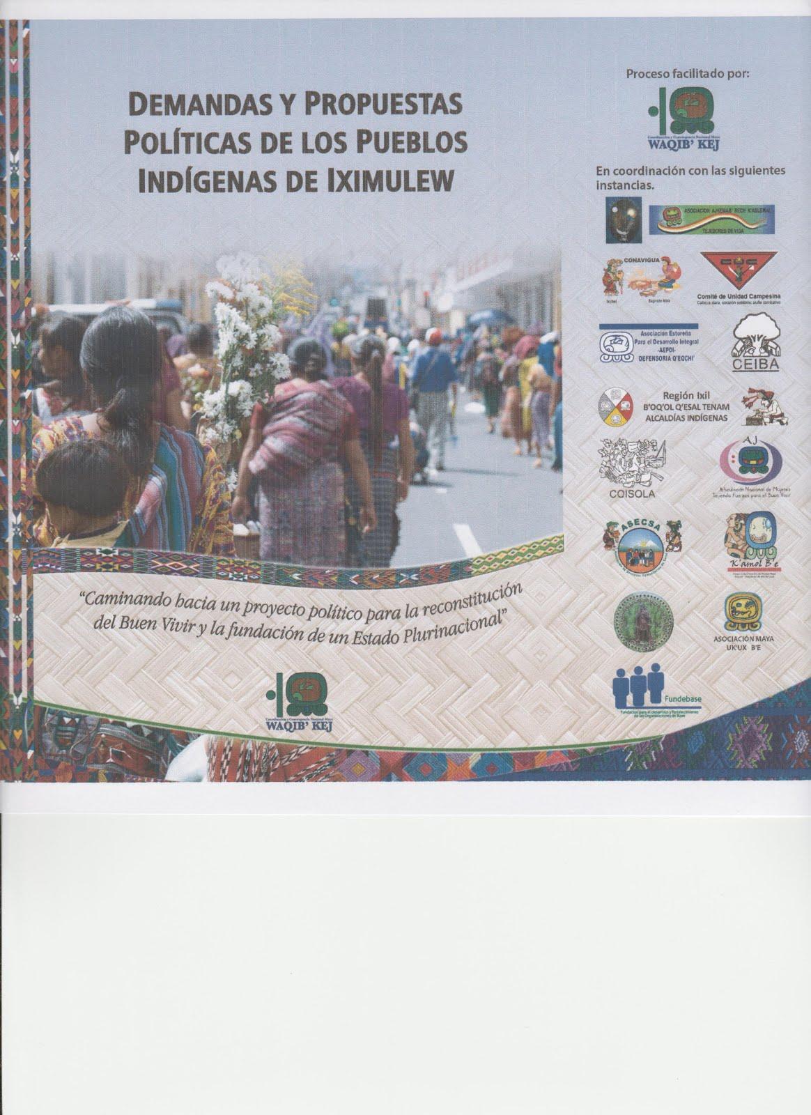 Demandas y propuestas políticas de los Pueblos Indígenas de Iximulew