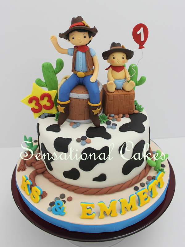 The Sensational Cakes Father And Son 3d Cake Cowboys Texas Theme