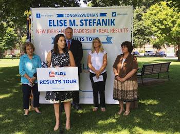 Rep, Stefanik Campaigns in Glens Falls