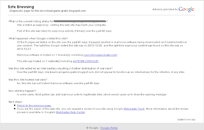 Cara Menghapus Peringatan Malware Blog Pada Browser