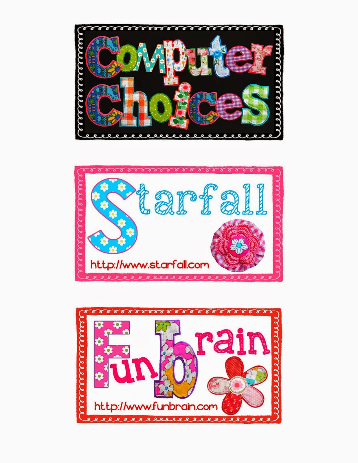 http://www.teacherspayteachers.com/Product/Computer-Choice-Cards-1306869