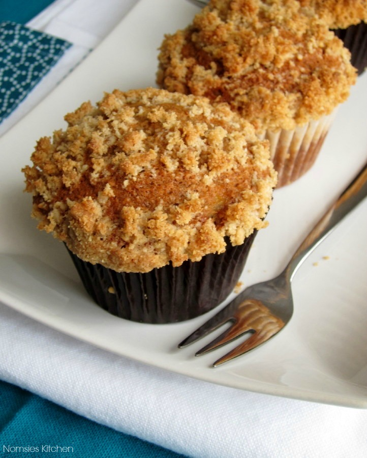 Easy & Tasty Banana Muffins with Almond Streusel Recipe from Nomsies Kitchen