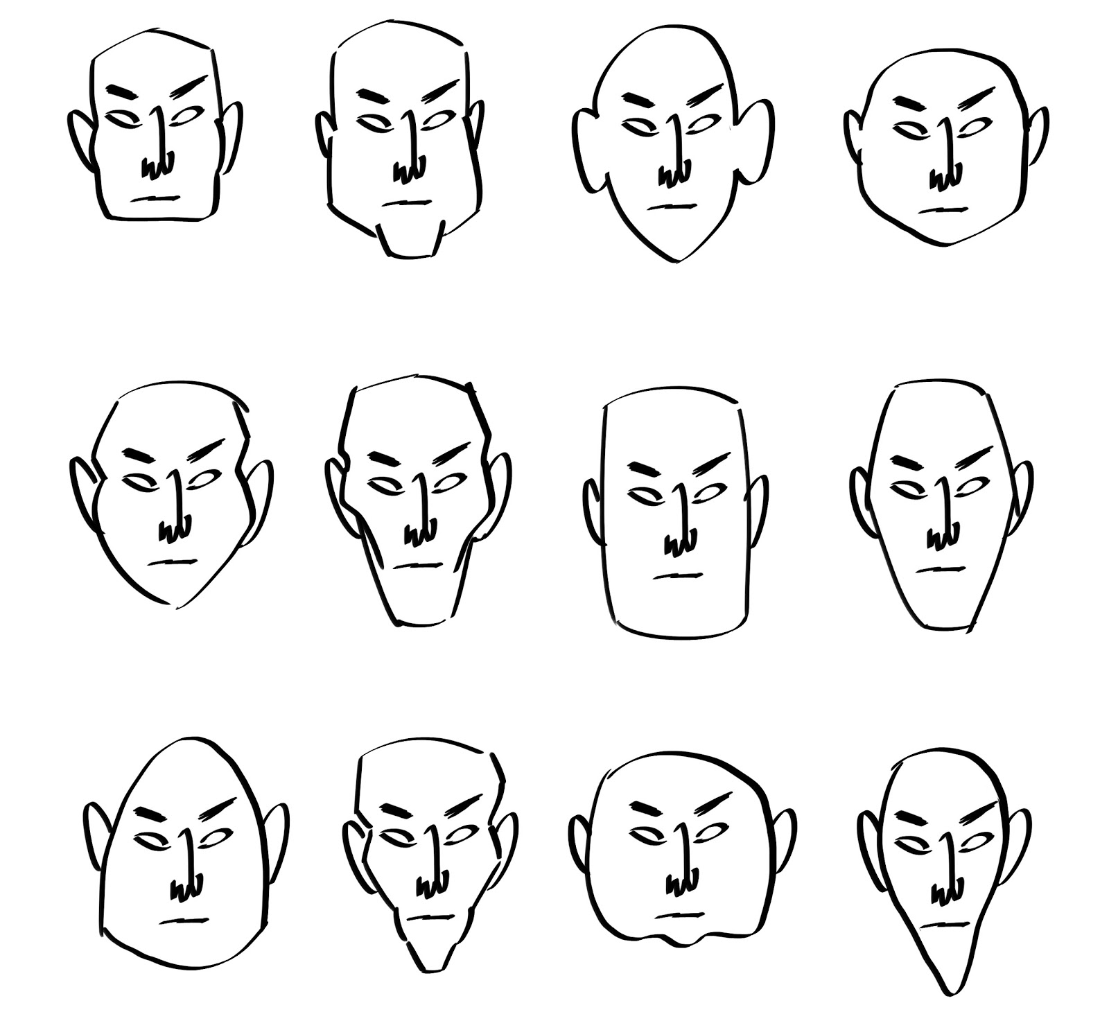 Character Design Head Shapes : Tuesdayartgroup february