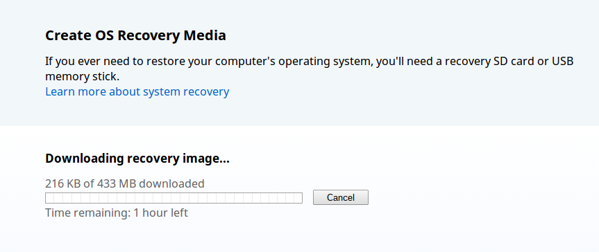 Download Recovery Media