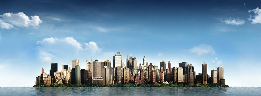 Okyanusun ortasındaki şehir kapak resimleri
