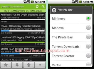 Transdroid Free App Interface: Download Torrents on Android