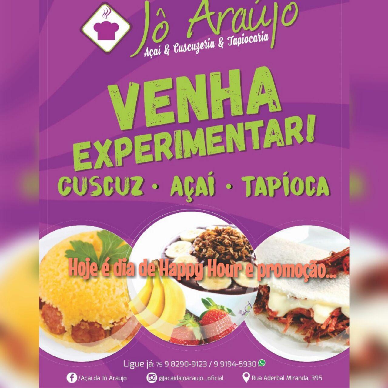 JÔ ARAÚJO - AÇAI, CUSCUZERIA & TAPIOCARIA - DELIVERY 98290-9123