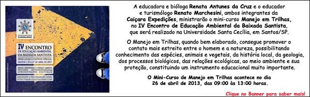 ..:: Mini Curso Manejo em Trilhas no IV Encontro de Educação Ambiental Baixada Santista ::..