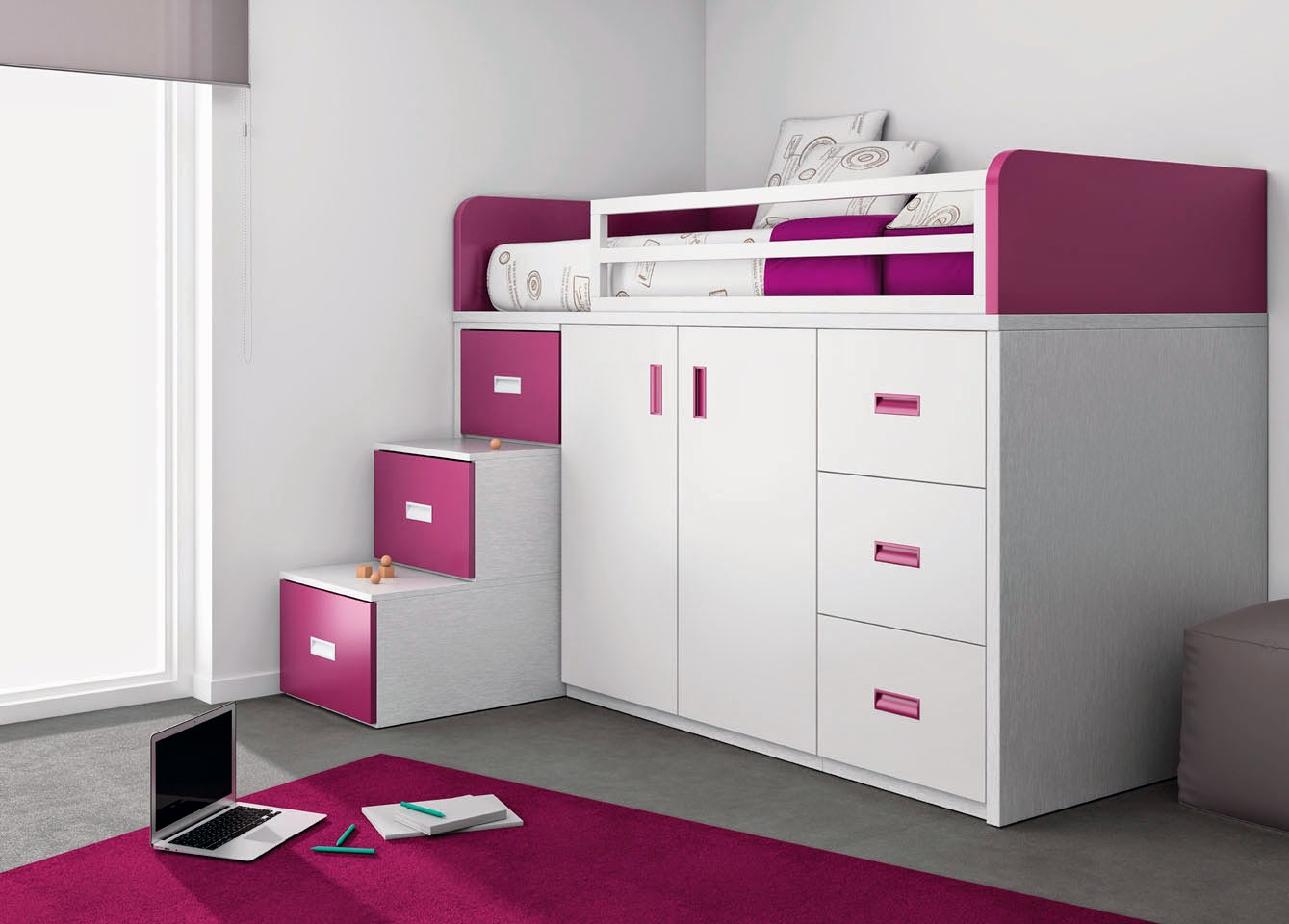 Camerette piccole soluzioni salvaspazio mobili ros for Camas dos en una