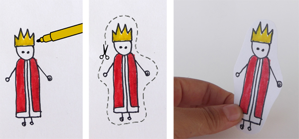 draw a king, draw a knigh, paper king, paper knight, paper doll, paper toy