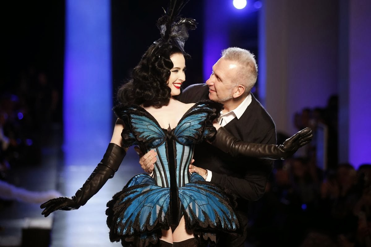 Dita Von Teese Rocks Jean Paul Gaultiers Couture Show In Paris photo 1