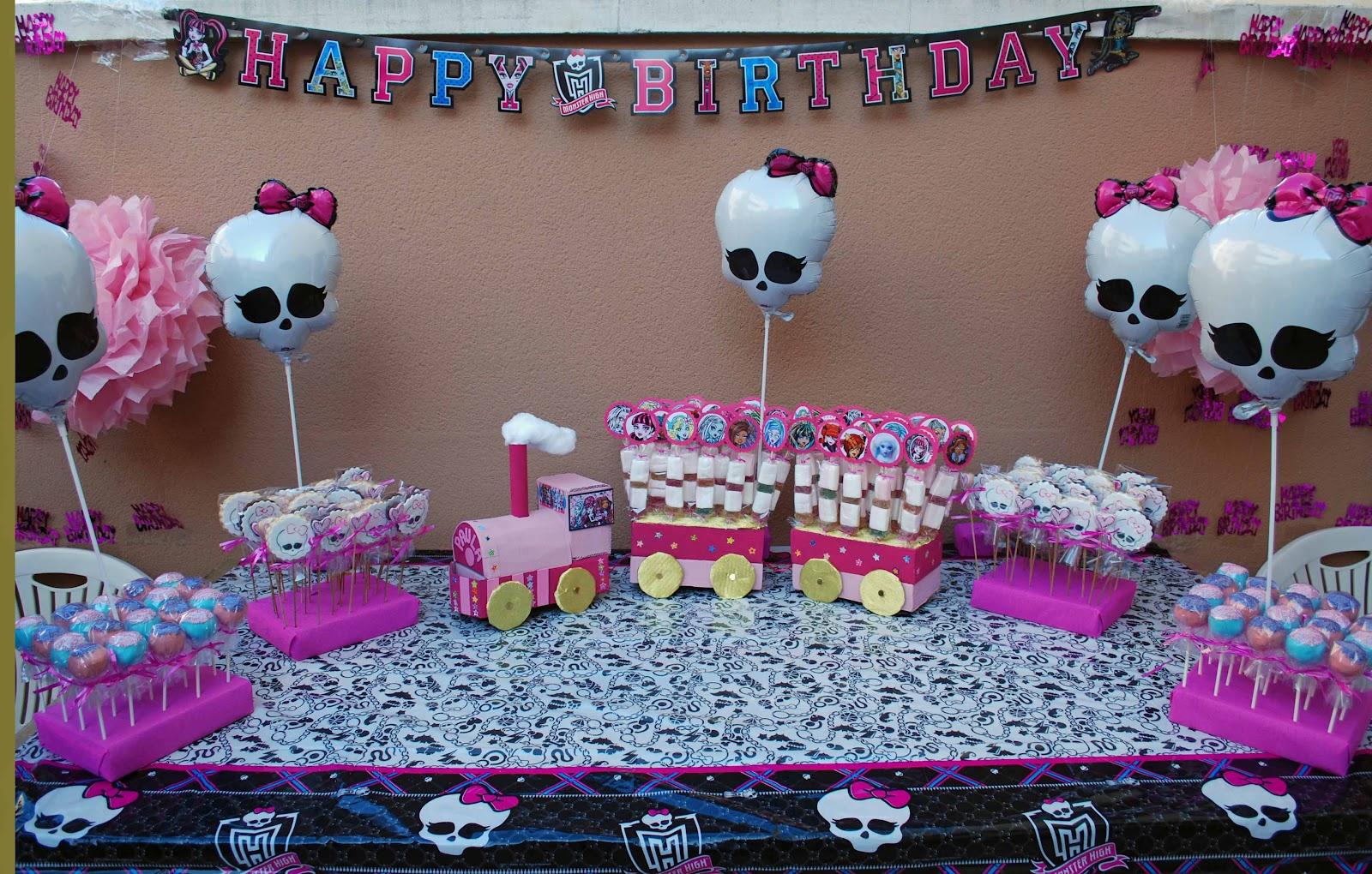 Las galletas de mi casa y más...: Cumpleaños Monster High