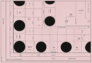 архитектурный план северо-восточного угла Парфенона