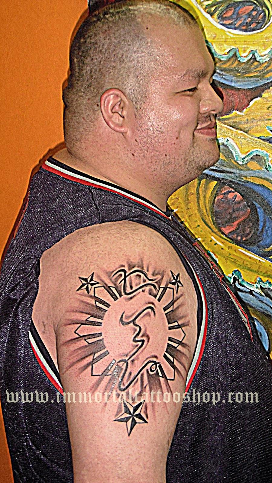 Filipinotattoo november 2011 for Philippine island tattoo