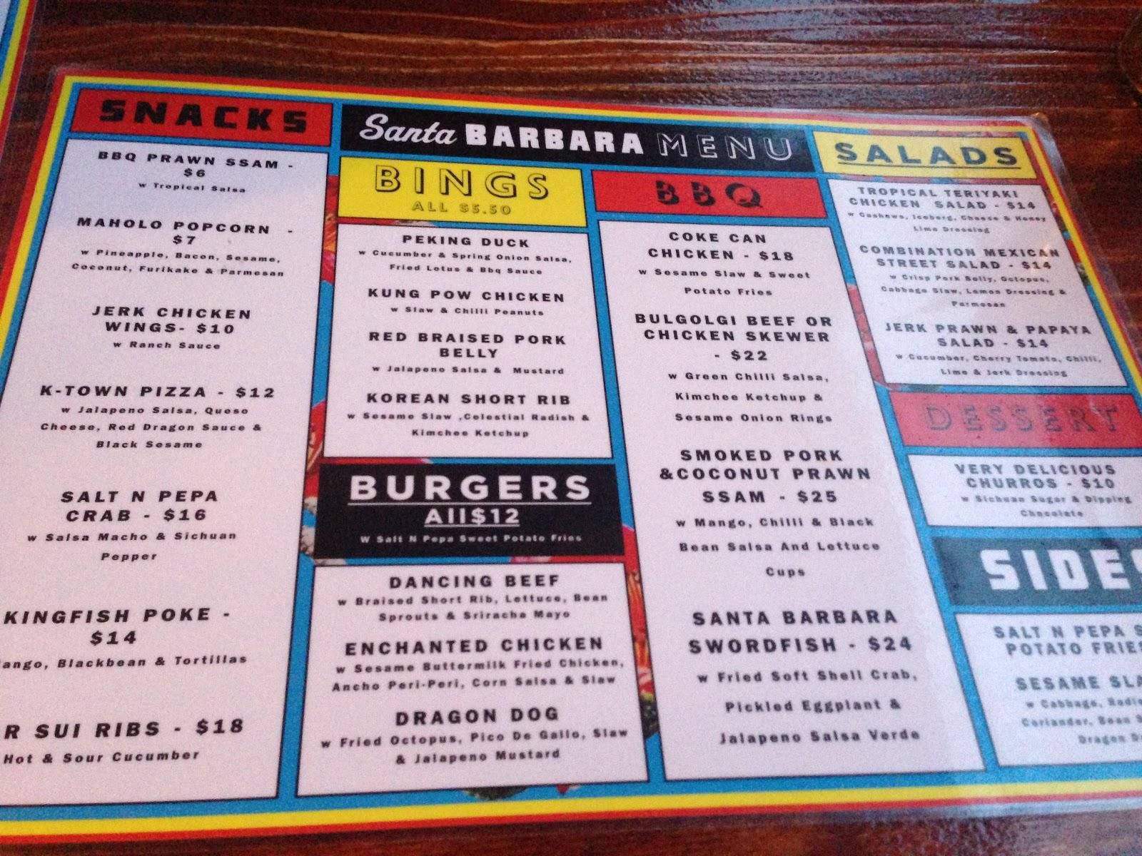 Q's Chicken Kings Cross Menu Food menu