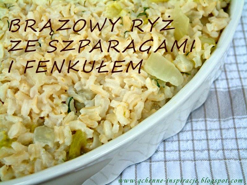 Szparagi i fankuł z brązowym ryżem a'la risotto