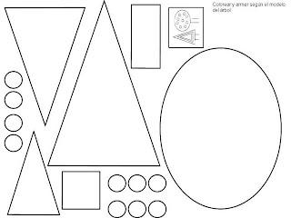 ejercicio para aprender las figuras geometricas coloreando