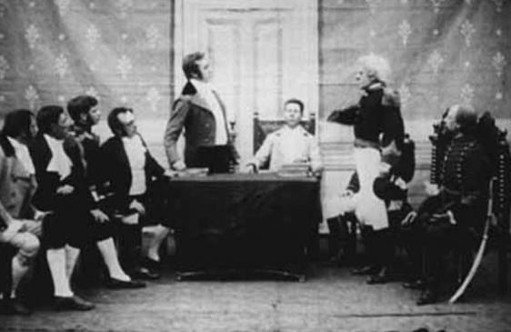 Imagen: Fotograma de la película de 1910 : La revolución de mayo